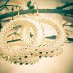 Winter Wedding hoop earrings.tbteam..