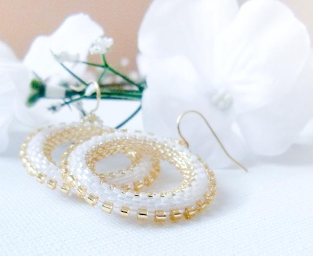 Winter Wedding hoop earrings.tbteam spteam stylistteam