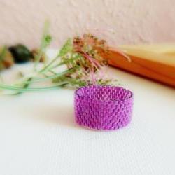 Phlox Purple Custom Band ring. Valentines gift idea. fashion jewelry