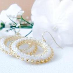 Winter Wedding hoop earrings.tbteam spteam stylistteam